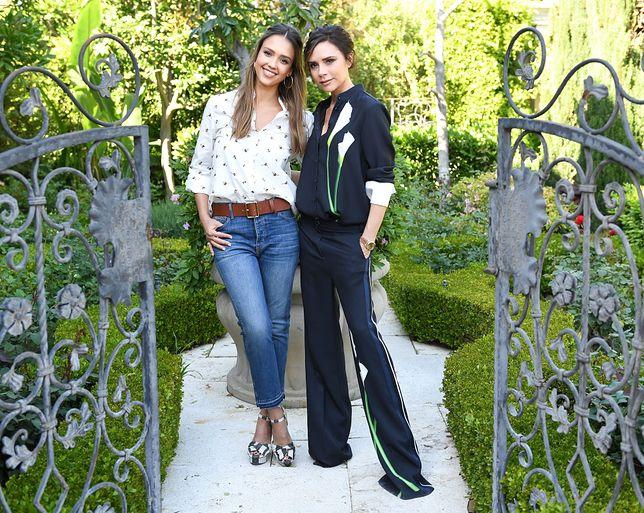 Jessica Alba i Victoria Beckham