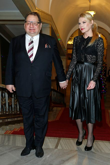 Ryszard Kalisz z żoną