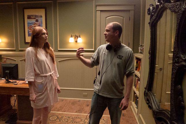Karen Gillan i Mike Flanagan na planie ''Oculus''