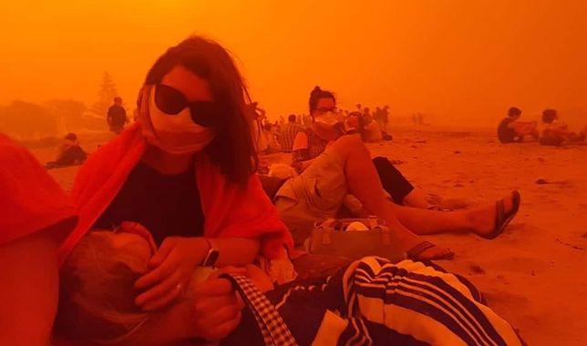 Zdjęcie przedstawiające zły stan powietrza w Australii