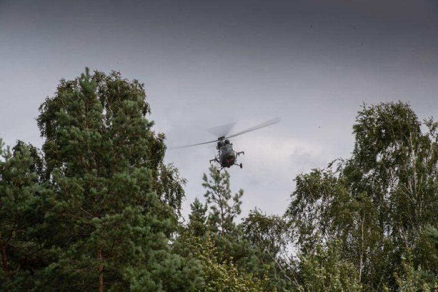 Patrole powietrzne nad granicą polsko-białoruską