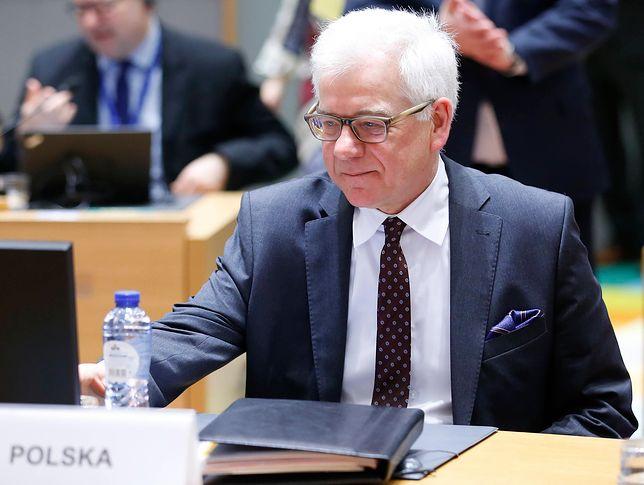 Minister Czaputowicz poleci do Brukseli 8 lutego