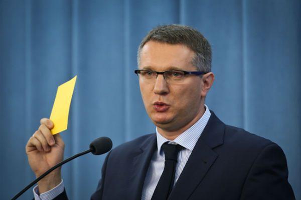 Poseł Kongresu Nowej Prawicy Przemysław Wipler