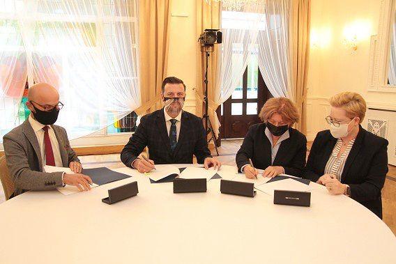Podpisanie listu intencyjnego w sprawie powstania w Siemianowicach Śl. centrum biznesu.