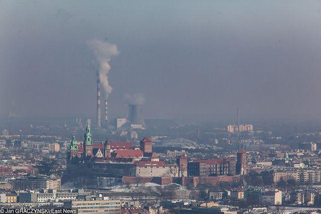 Smog Kraków, widok z Kopca Kościuszki