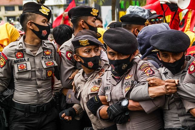 Protesty w Indonezji - zdjęcie poglądowe
