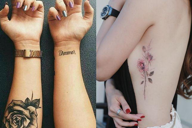 Tatuaż kwiaty