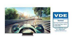 "Telewizory Samsung Neo QLED z certyfikatem VDE ""Gaming TV Performance"""