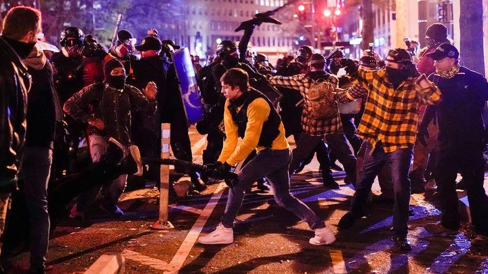 USA. Protest zwolenników Donalda Trumpa. Są ranni
