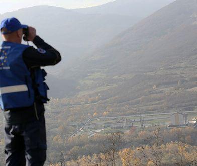 Punkt kontrolny przy granicy Gruzji z Osetią Południową w Odzisi