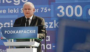 Jarosław Kaczyński przemawiał na konwencji PiS w Jesionce k. Rzeszowa
