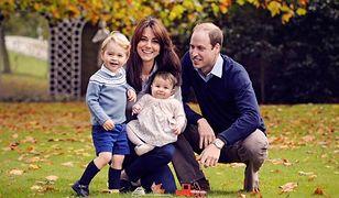 Książę William wraz z księżną Kate i dziećmi