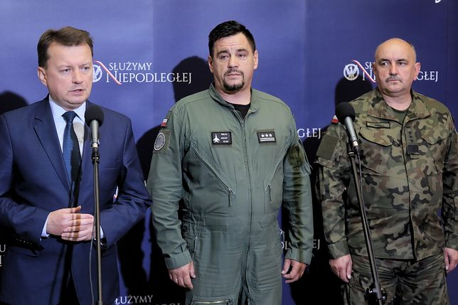 Mariusz Błaszczak oznajmił, że nie ma informacji, aby inne osoby, na ziemi, zostały poszkodowane podczas katastrofy