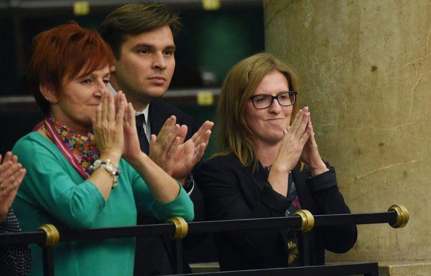 Katarzyna Kopacz-Petranyuk z mężem Andriyem Petranyukiem w sejmie