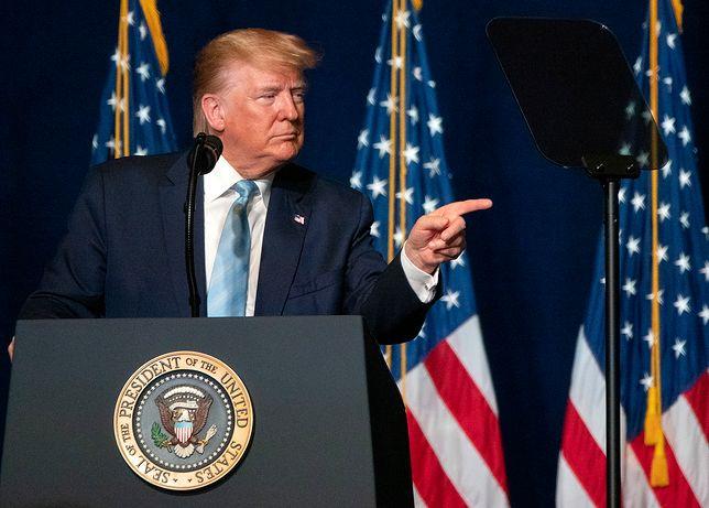Donald Trump podczas konferencji w Miami, 3 stycznia br.