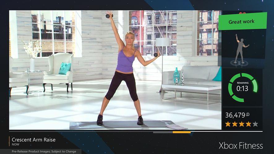 Microsoft zapowiada usługę Xbox Fitness dla Xboksa One