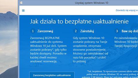 Reklama bezpłatnej aktualizacji do Windows 10 trafia na kolejne komputery