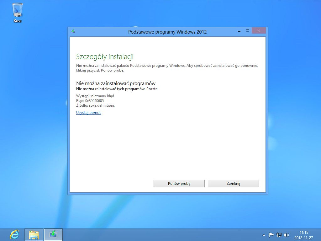 Wdrażam Windows 8 w miejsce XP, cz. 4