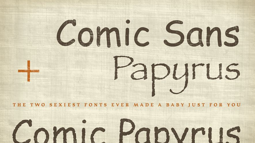 Potworna inżynieria genetyczna fontów stworzyła Comic Papyrus