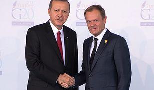 Donald Tusk z prezydentem Turcji Recepem Tayyipem Erdoganem