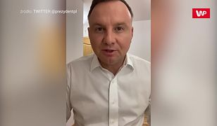 Andrzej Duda z koronawirusem. Prezydent nagrał film