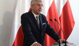 Stanisław Karczewski podczas konferencji prasowej
