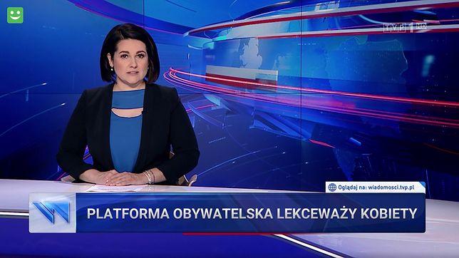 """Identyczny pasek pojawił się w """"Wiadomościach"""" z 21 lipca"""