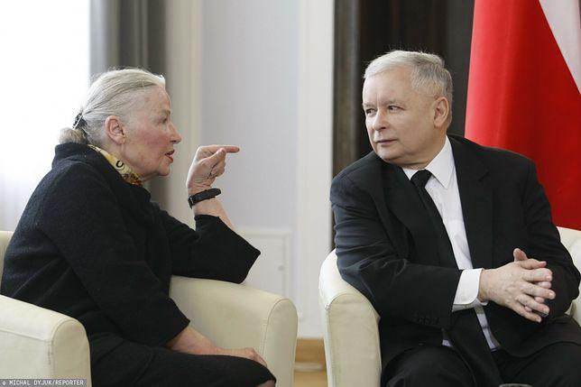 Jadwiga Staniszkis oraz Jarosław Kaczyński (zdj. arch.)