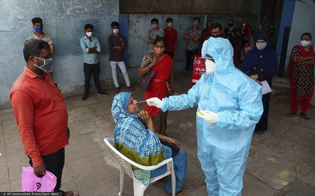 Na rekordową, dobową liczbę nowych zakażeń na świecie duży wpływ ma sytuacja epidemiczna w Indiach/ Zdjęcie ilustracyjne