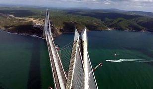 Prezydent Turcji Recep Tayyip Erdogan otworzył most nad Bosforem