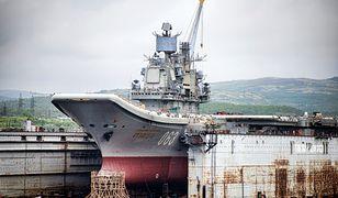 """Podczas niedawnych napraw """"Admirała Kuzniecowa"""" doszło do katastrofy"""