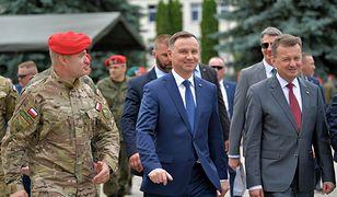 Andrzej Duda i Mariusz Błaszczak na Święcie Żandarmerii Wojskowej