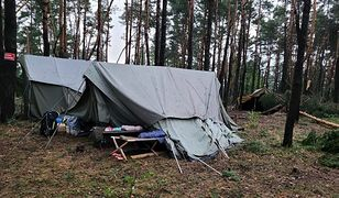 Burza w Kostkowicach. Ewakuacja obozu harcerskiego
