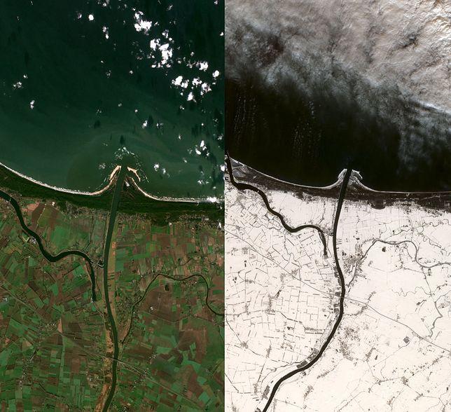 Ujęcia pochodzą z Sentinela - satelitów Europejskiej Agencji Kosmicznej