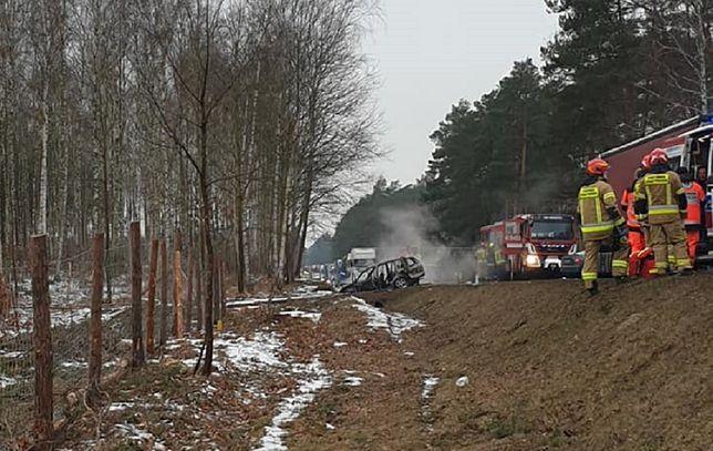 Karambol na DK22 pod Sulęcinem. Wielu rannych, poparzone dziecko
