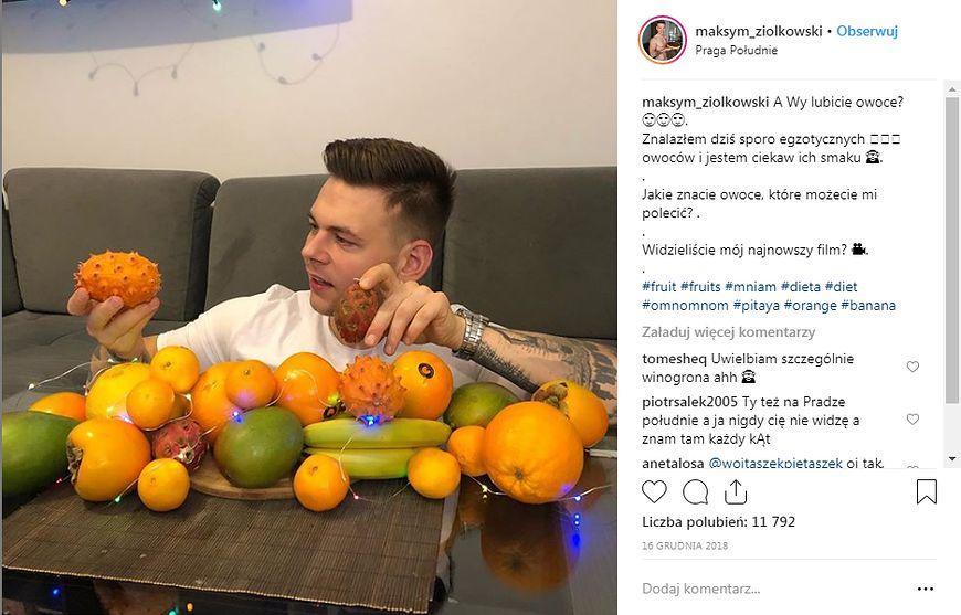 7 dni na samych owocach [instagram.com]