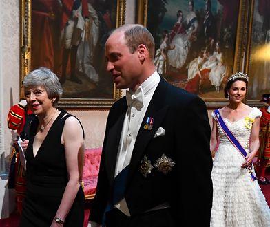 Kate i William na bankiecie u królowej