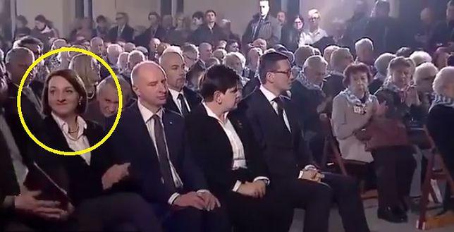 Magdalena Gawin podczas uroczystości w Oświęcimiu