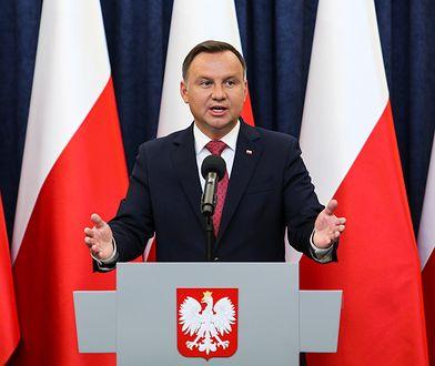 Andrzej Duda składa życzenia Beacie Tyszkiewicz