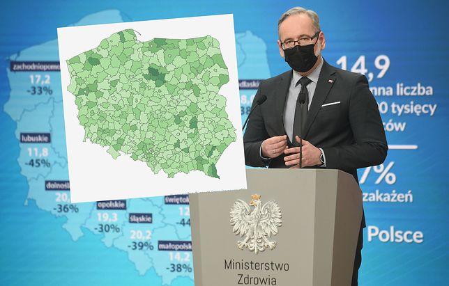 Koronawirus w Polsce. Są pierwsze regiony, gdzie od tygodni nie było przypadków zakażeń