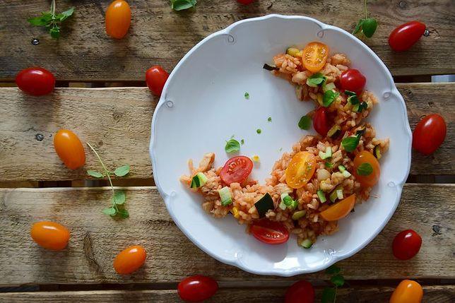 Risotto z kurczakiem i owocami morza
