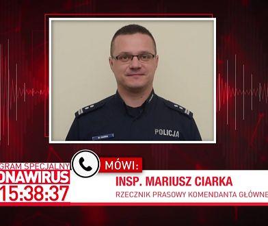 Koronawirus w Polsce. Insp. Mariusz Ciarka o osobach poddanych kwarantannie