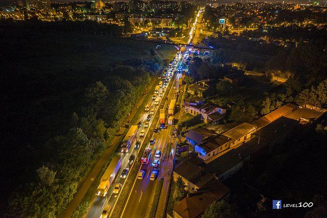 DK 1 w kierunku Warszawy była zablokowana przez kilka godzin
