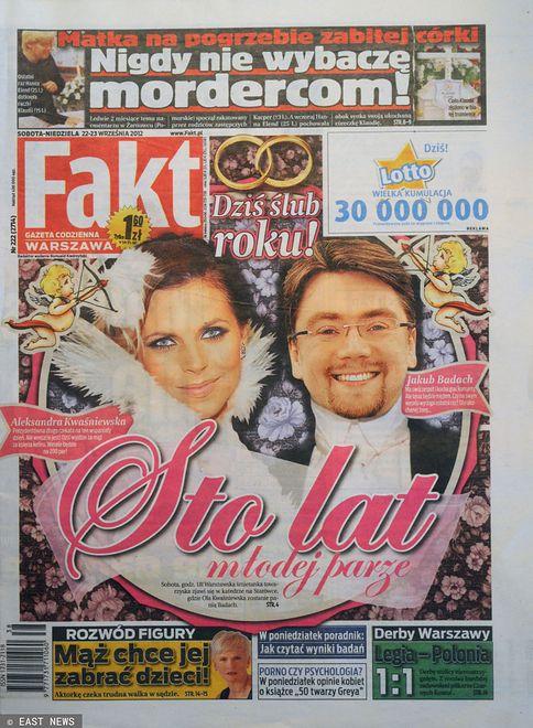 "Okładka dziennika ""Fakt"""