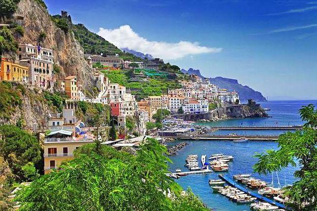 Amalfi, Włochy - gdzie morze spotyka sie z górami