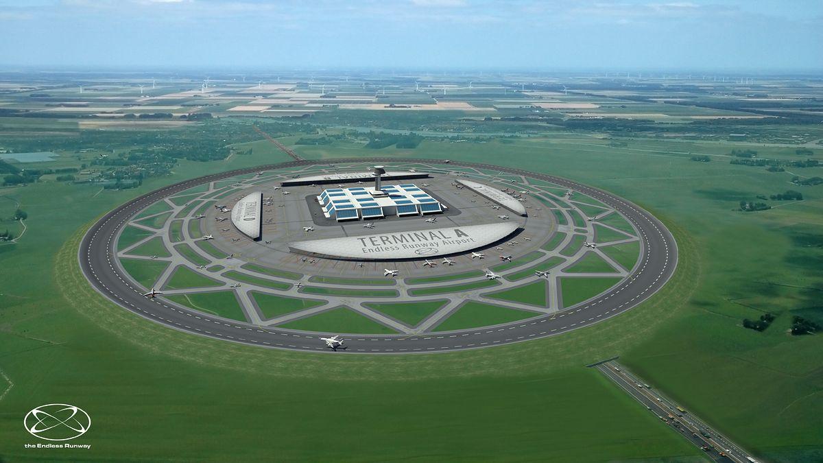 Czy w przyszłości samoloty będą startować i lądować z okrągłych pasów?