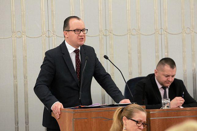 Rzecznik Praw Obywatelskich Adam Bodnar podczas debaty nad ustawami o Sądzie Najwyższym i Krajowej Radzie Sądownictwa.