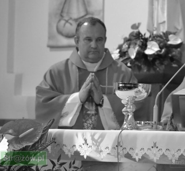 Koronawirus. Zmarł ks. Adam Dzióba. Zachorował na COVID-19 (Źródło: parafia.strazow.pl)