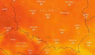Upał w sobotę dokuczać będzie mieszkańcom całej Polski - na termometrach do 32 st. C w cieniu
