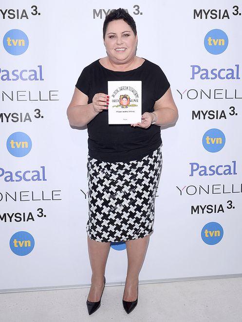 Dorota Wellman i jej świetna wzorzysta spódnica